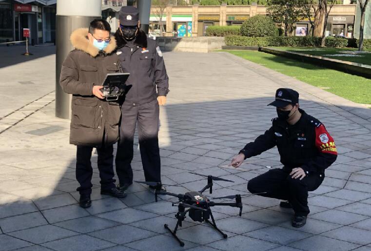 上海警用无人机助力疫情防控